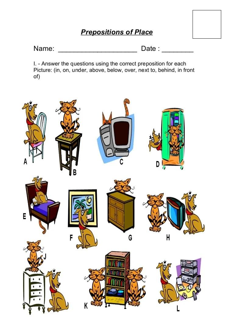 medium resolution of Prepositions of place ii