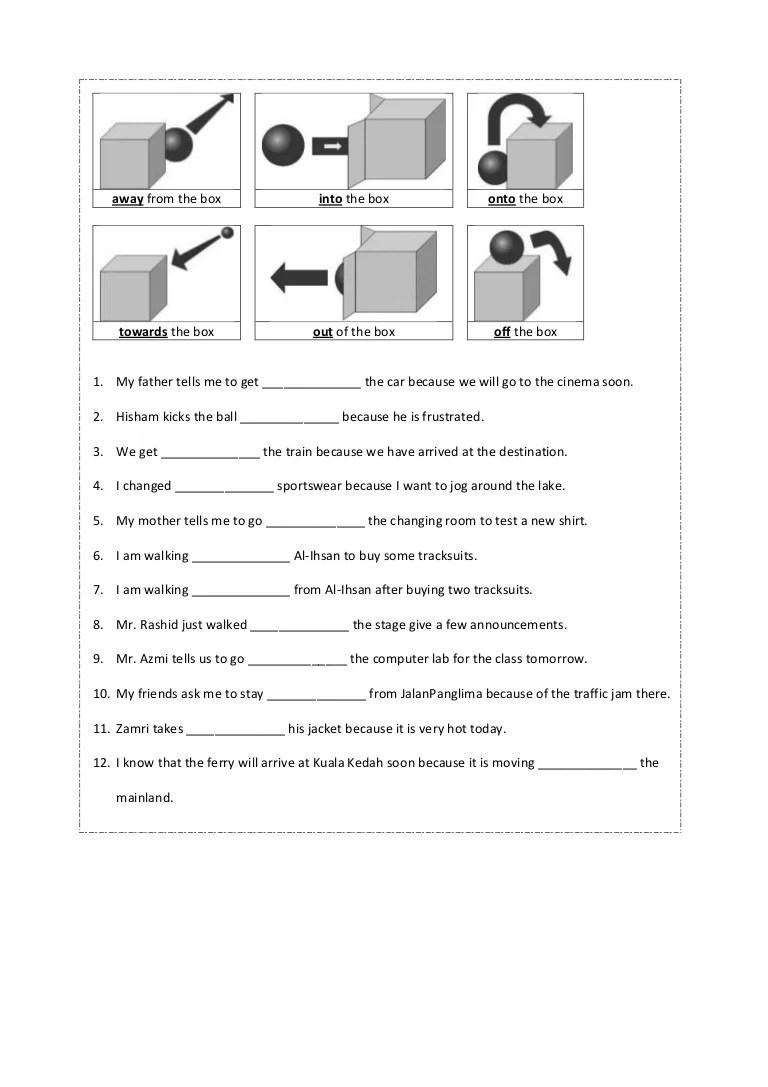 hight resolution of Preposition worksheet year 4