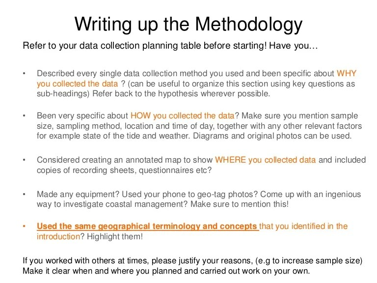 Research Paper Example Methodology Section