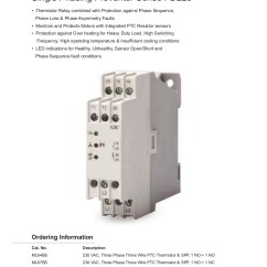 Thermistor Relay Wiring Diagram Dometic Temperature Monitoring Ptc Single Phasing Preventer Gic India