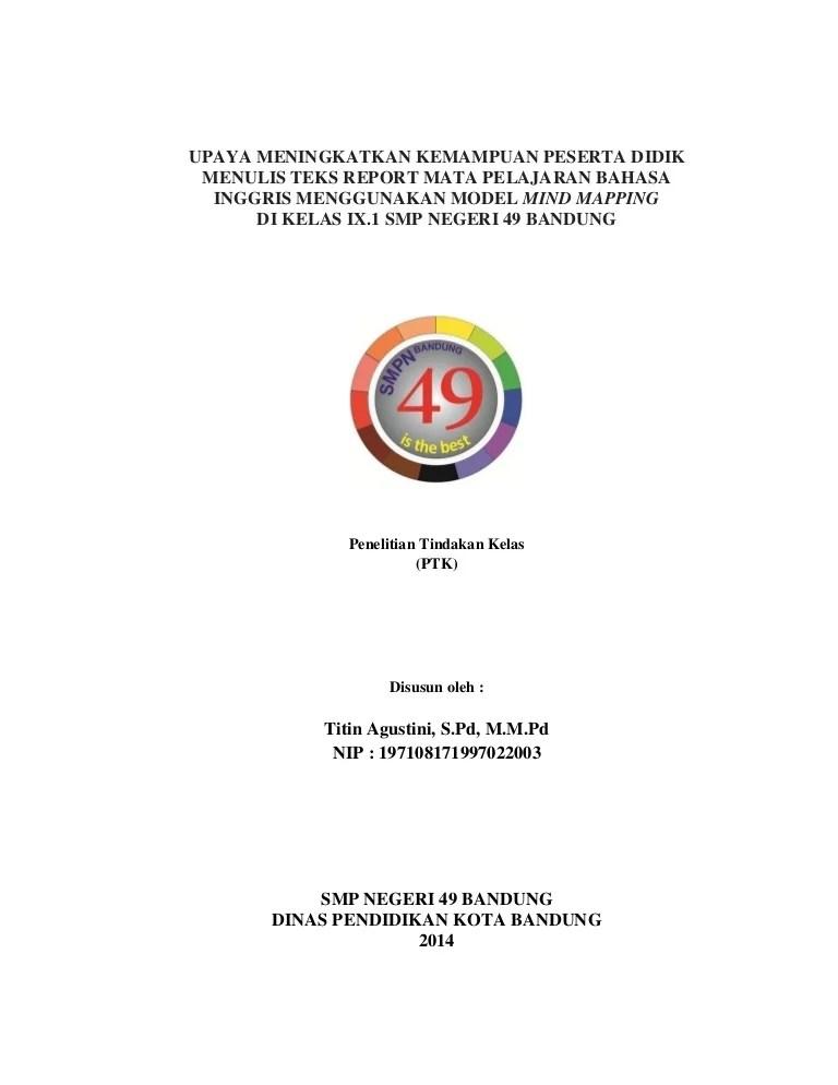 Ptk Bahasa Inggris Smp Kelas 9 : bahasa, inggris, kelas, Upaya, Meningkatkan, Kemampuan, Peserta, Didik, Menulis, Report