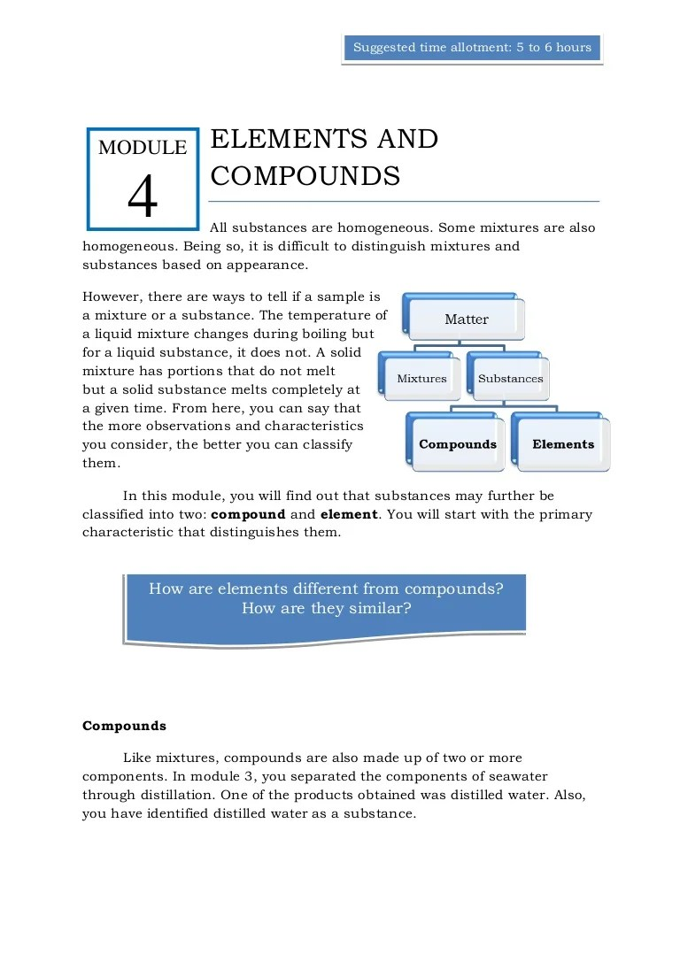 medium resolution of Qtr 1 module 4 elements \u0026 compounds