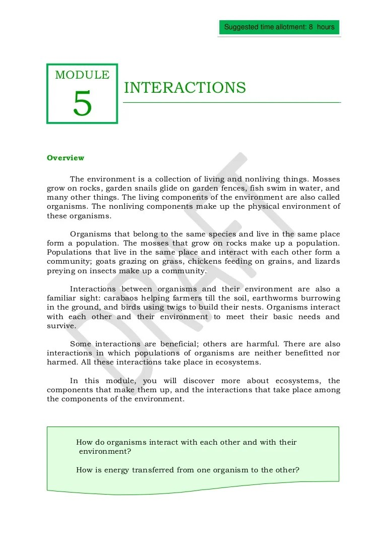 small resolution of Qtr 2 module 5 interactions