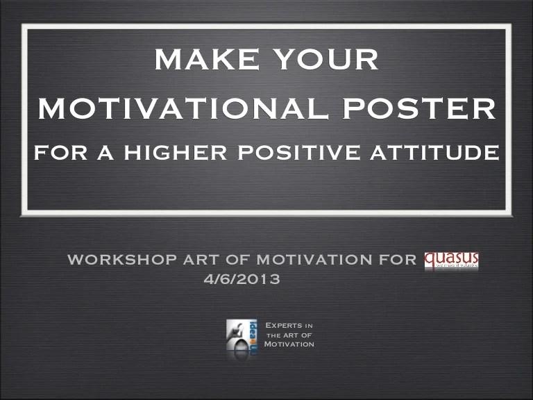 make your motivational poster