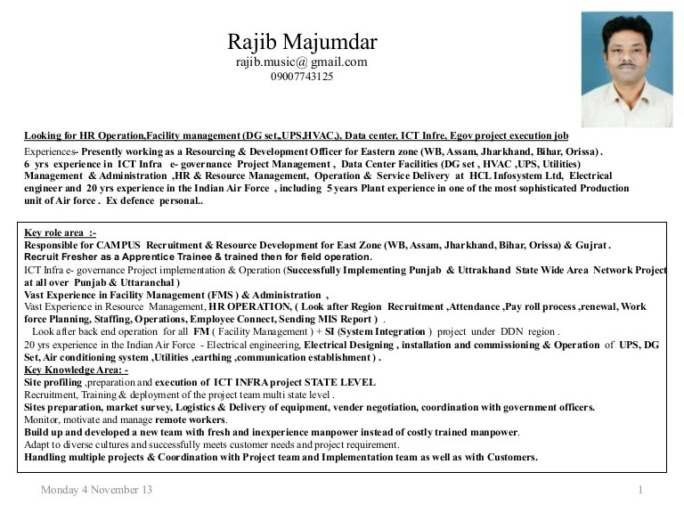 4 & 1 2 Yrs Experience In ICT Infra E Governance Project