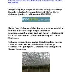 Harga Atap Baja Ringan Zinc Rangka Galvalum Di Malang Surabaya Spesialis G