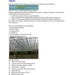 Distributor Baja Ringan Kencana Rangka Atap Truss Galvalume 085791632999