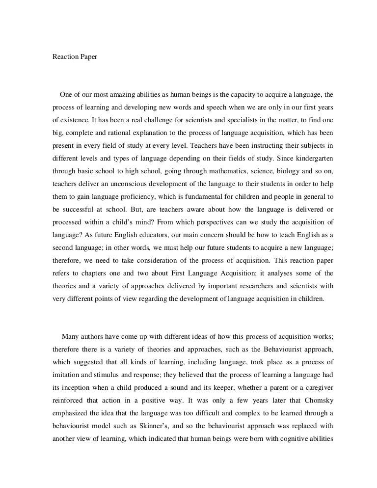 Reaction Essay Examples Reaction Essay Examples How To Write Good