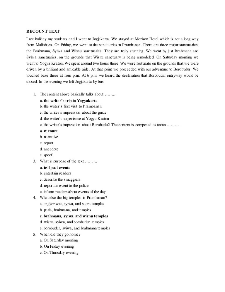Contoh Soal Recount Text Pilihan Ganda Beserta Jawabannya Sma : contoh, recount, pilihan, ganda, beserta, jawabannya, Contoh, Recount, Beserta, Jawabannya, Terbaru, Cute766