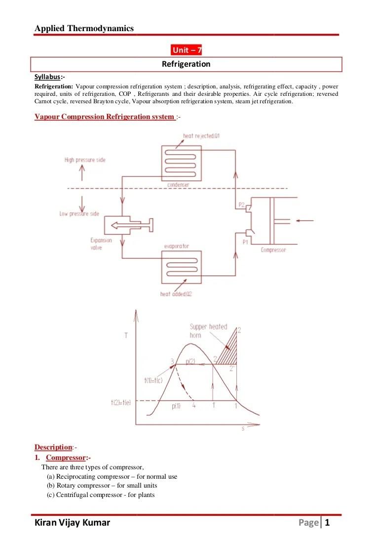 vapour compression refrigeration cycle t  diagram [ 768 x 1087 Pixel ]