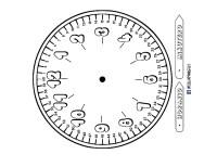 Reloj para colorear // aprende a ver la hora