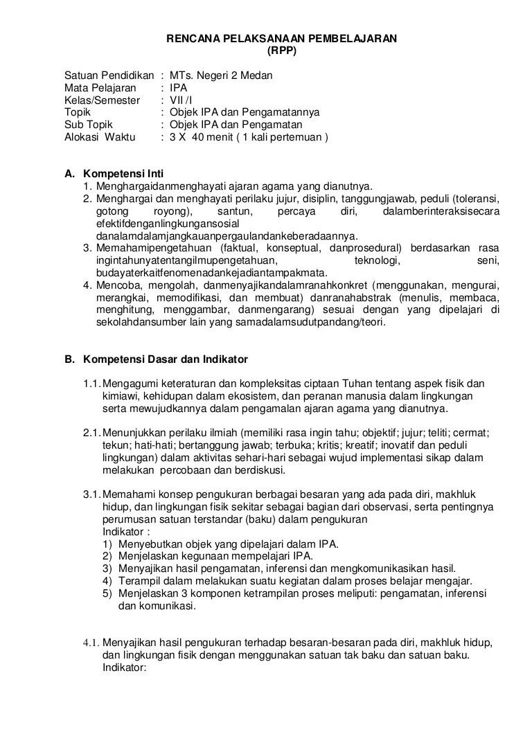 Syarat Satuan Baku Adalah : syarat, satuan, adalah, Rencana, Pelaksanaan, Pembelajaran, Pengukuran