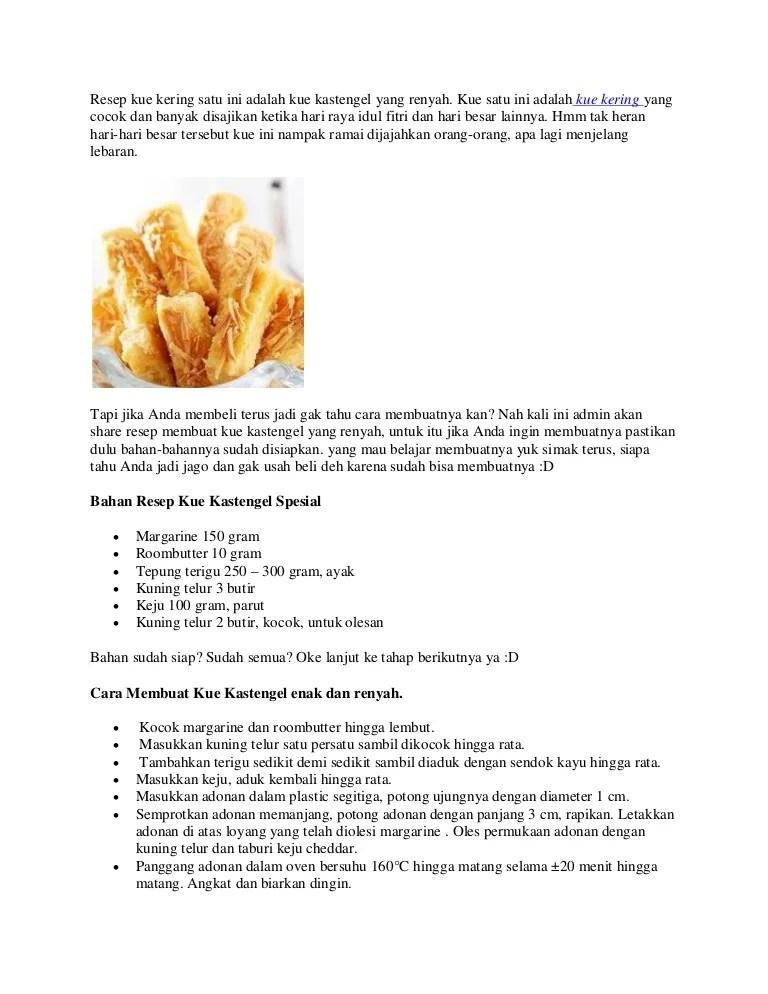 Cara Membuat Kue Kastengel : membuat, kastengel, Resep, Kering, Adalah, Kastengel, Renyah