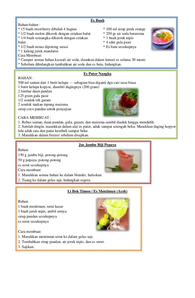 4 Contoh Teks Prosedur Sederhana Membuat Minuman