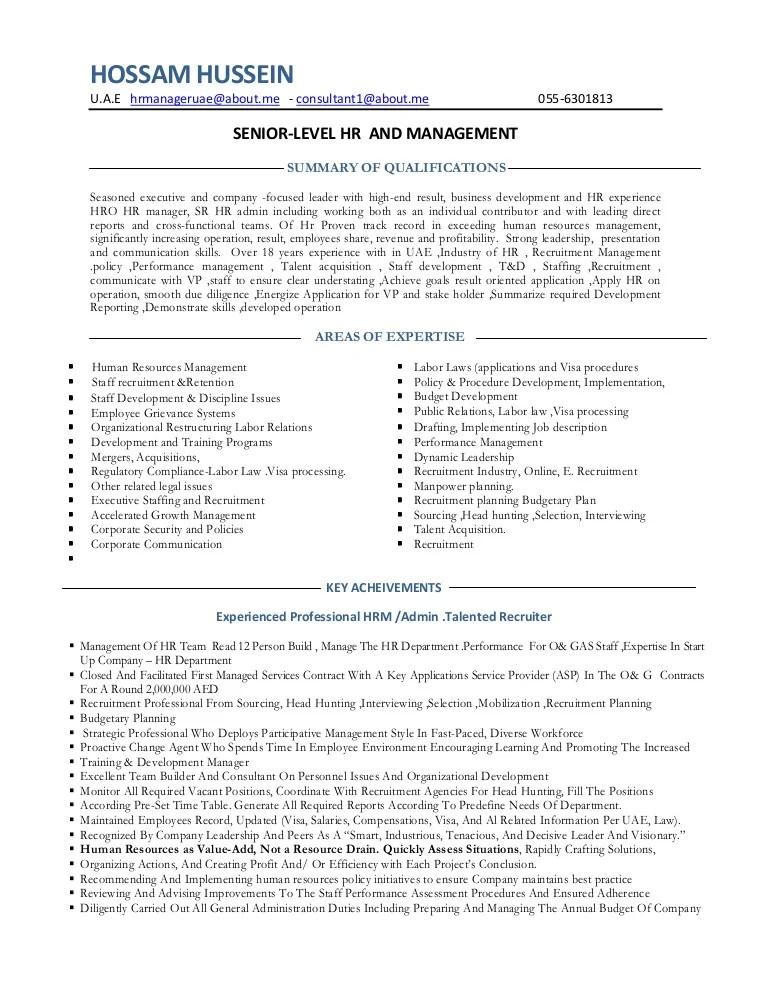 Resume Hr Manage Consultant Hr Admin Manager Consultant