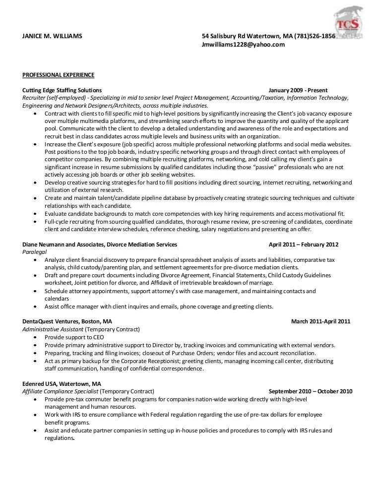 Resume 2012 Consultant