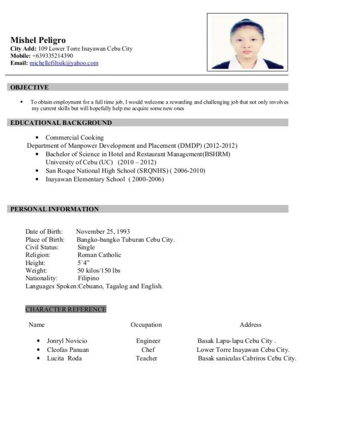 Sample Resume Letter For Ojt Hrm Students Dulahotw