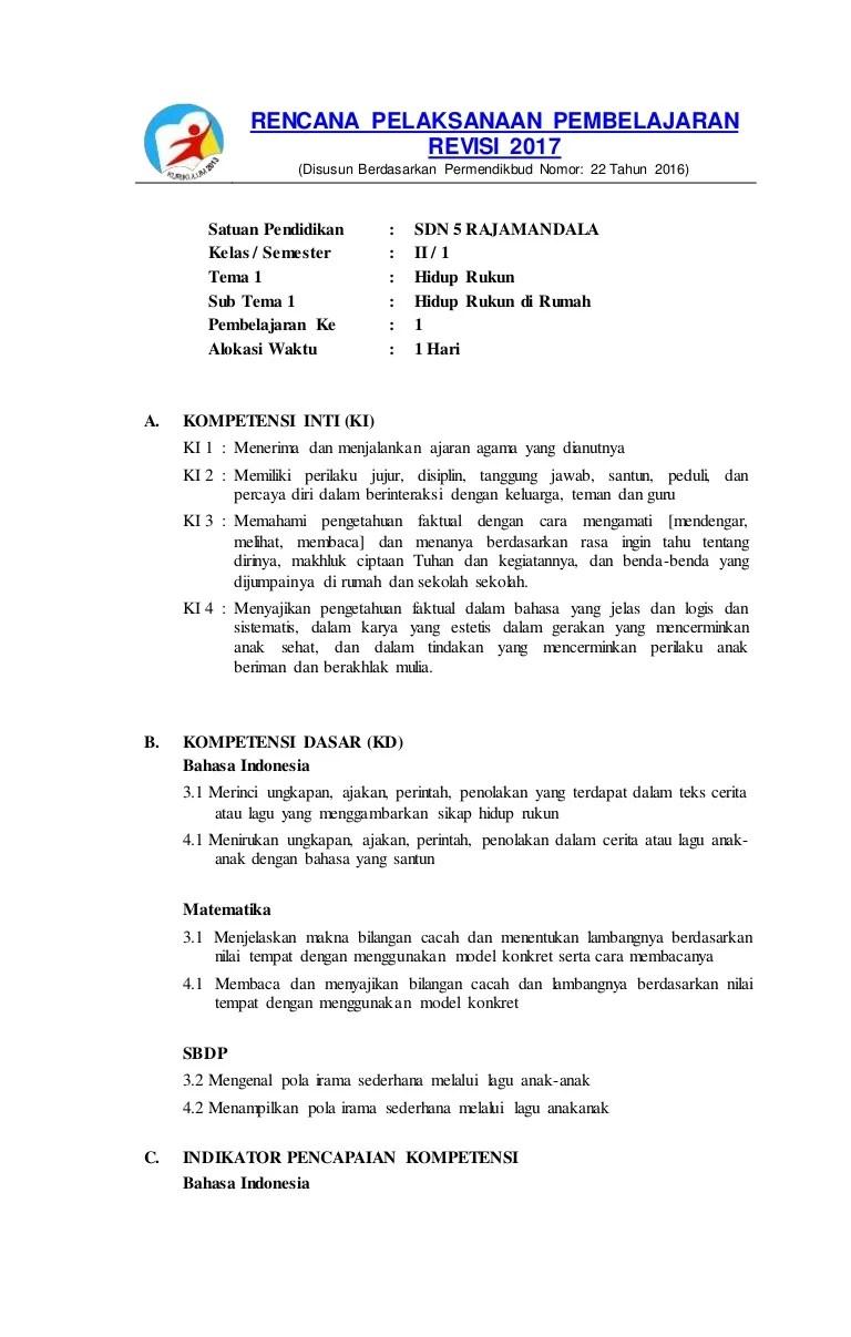 RPP K13 Kelas 2 Semua Tema Revisi Terbaru 2018 - blogspotedukasi