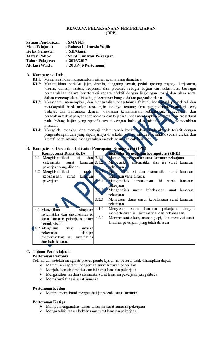 Kebahasaan Surat Lamaran Pekerjaan : kebahasaan, surat, lamaran, pekerjaan, Revisi, Bahasa, Indonesia, Wajib, Kelas