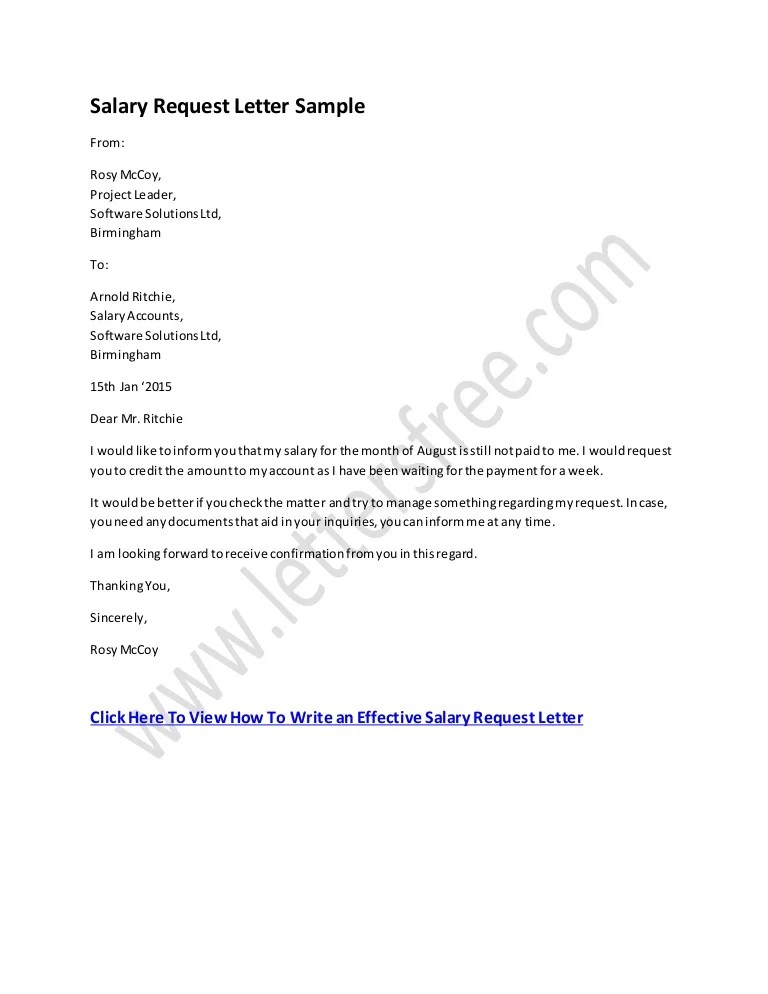 letters requesting promotion