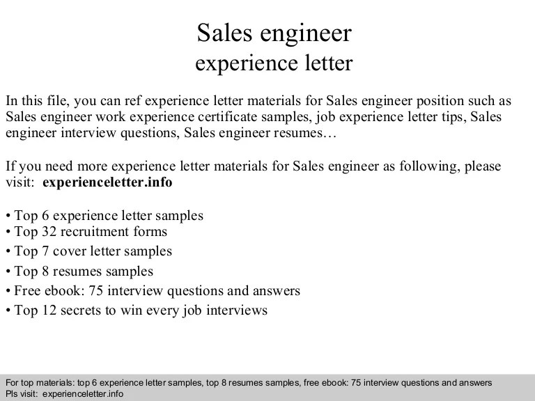 Sales Engineer Cover Letter Yorte