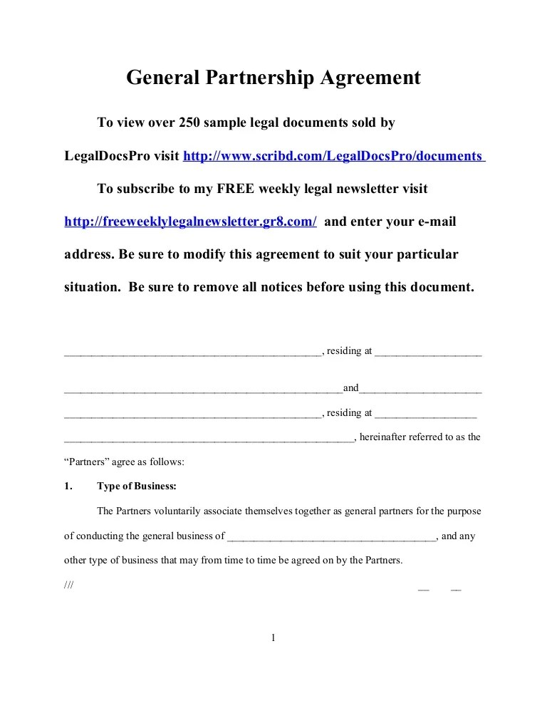 Free california partnership agreement ready in minutes. Sample General Partnership Agreement For California