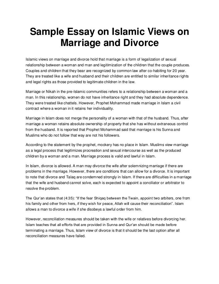 divorce essays