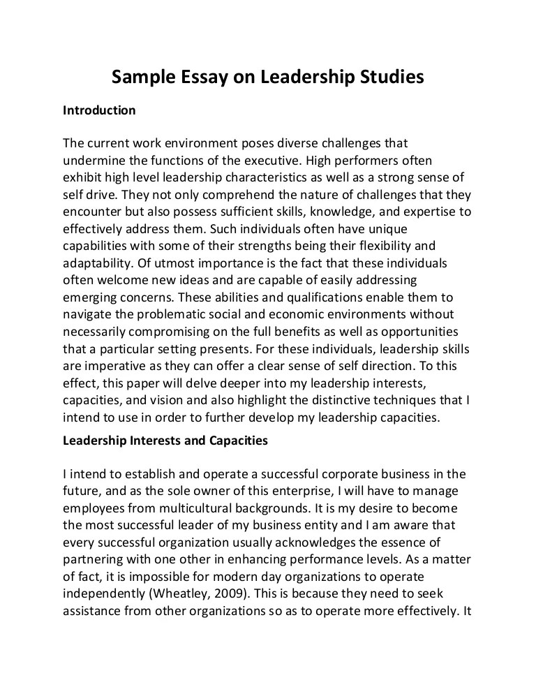 Essay Leader A Great Leader Essay In English Mdc Interior