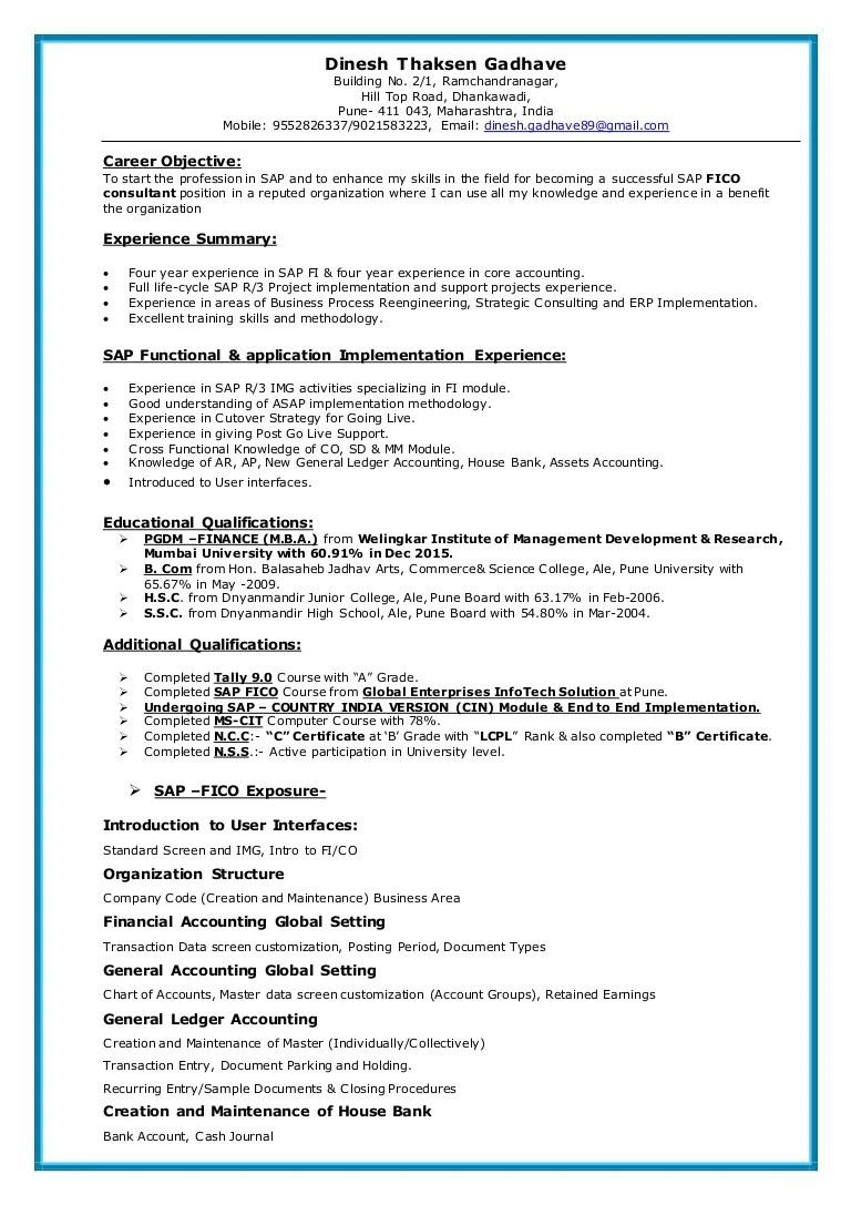 Sap Support Cover Letter | Effective Resume Formats Templates Sample ...