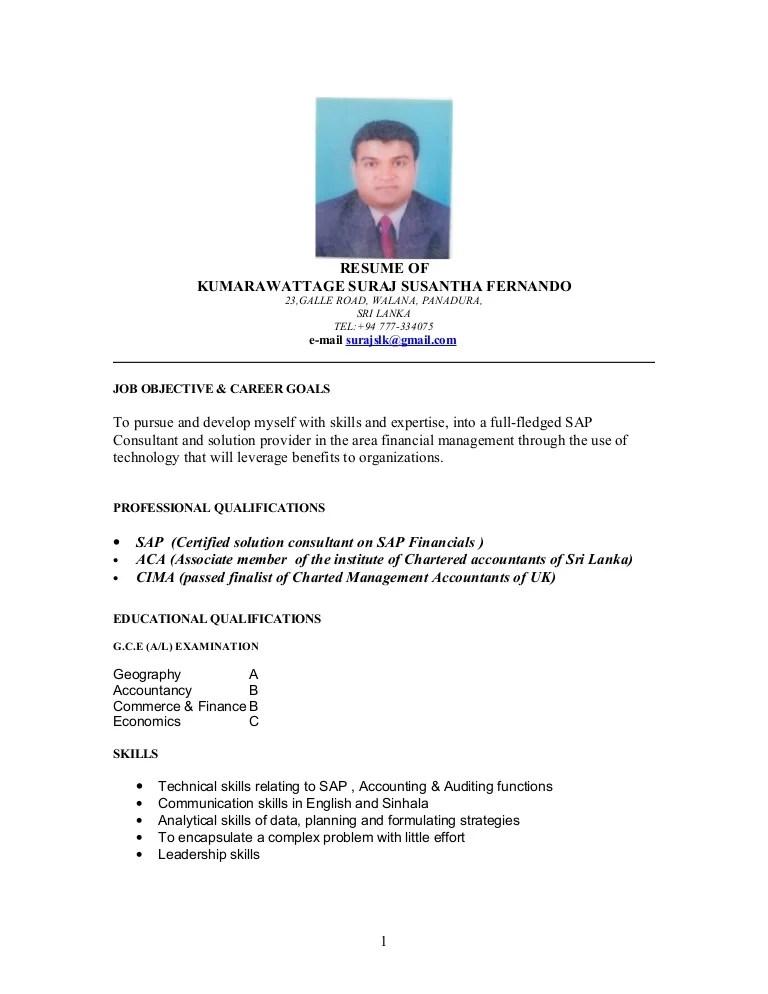 Sap Resume Suraj Pdf