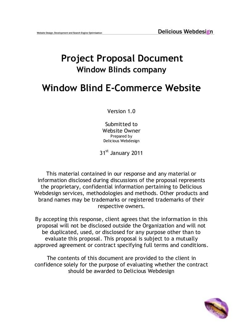 Scope proposalecommercewebsite