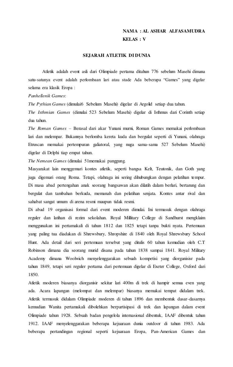Sejarah Atletik Di Indonesia : sejarah, atletik, indonesia, Sejarah, Atlit, Indonesia