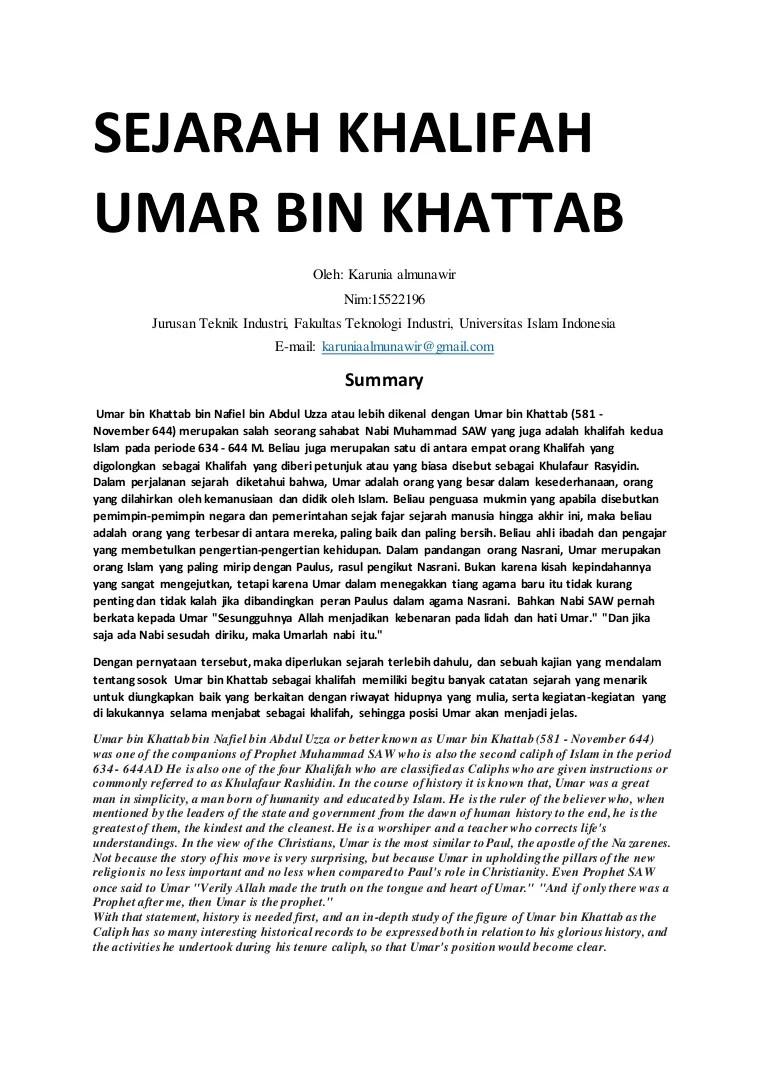 Proses Pengangkatan Umar Bin Khattab : proses, pengangkatan, khattab, Sejarah, Khattab