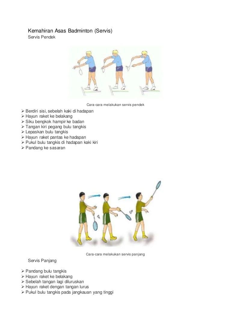 Teknik Servis Bulu Tangkis : teknik, servis, tangkis, Servis, Badminton