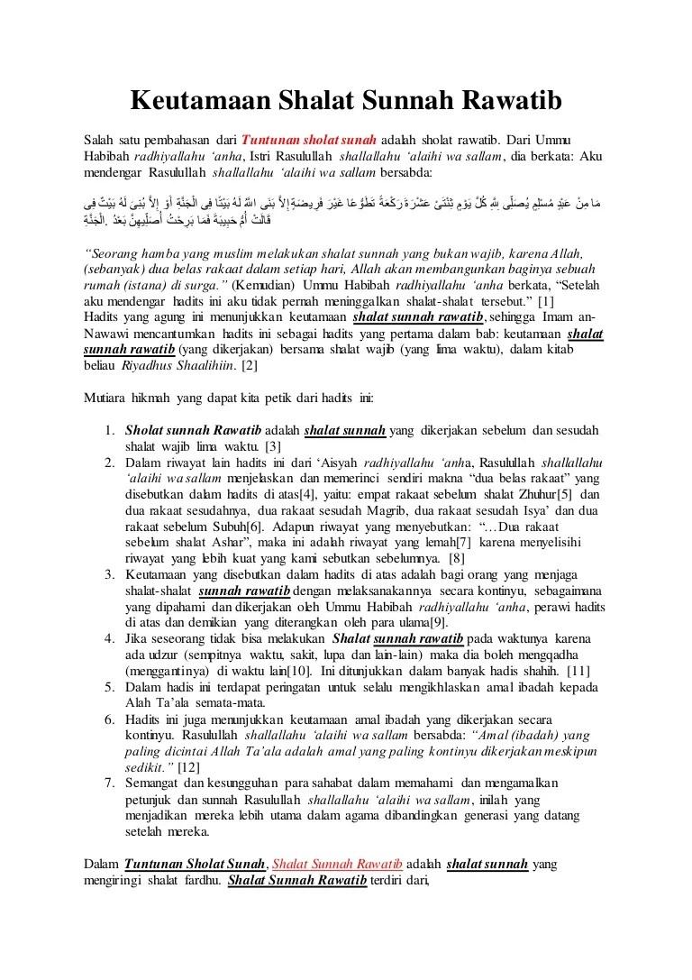 Shalat Sunnah Rawatib Adalah : shalat, sunnah, rawatib, adalah, Shalat, Sunnah, Rawatib