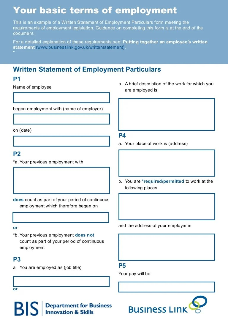 Your Basic Terms Of Employment