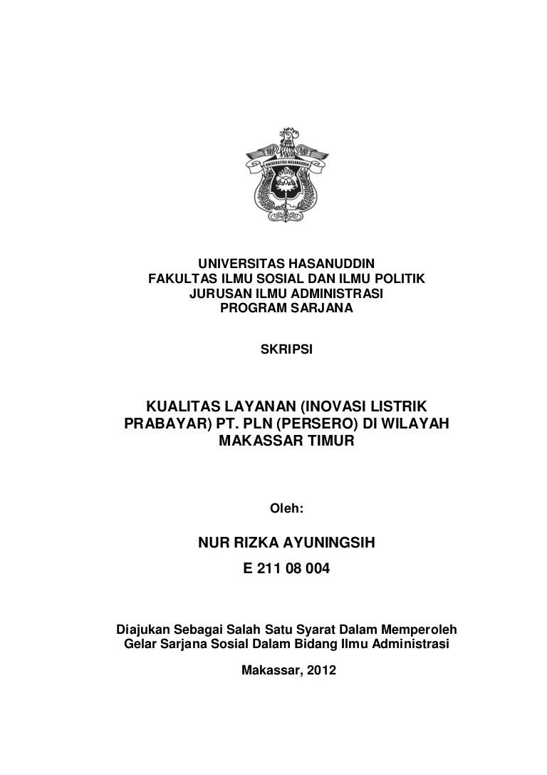 Skripsi Administrasi Publik Kuantitatif Ide Judul Skripsi Universitas Cute766