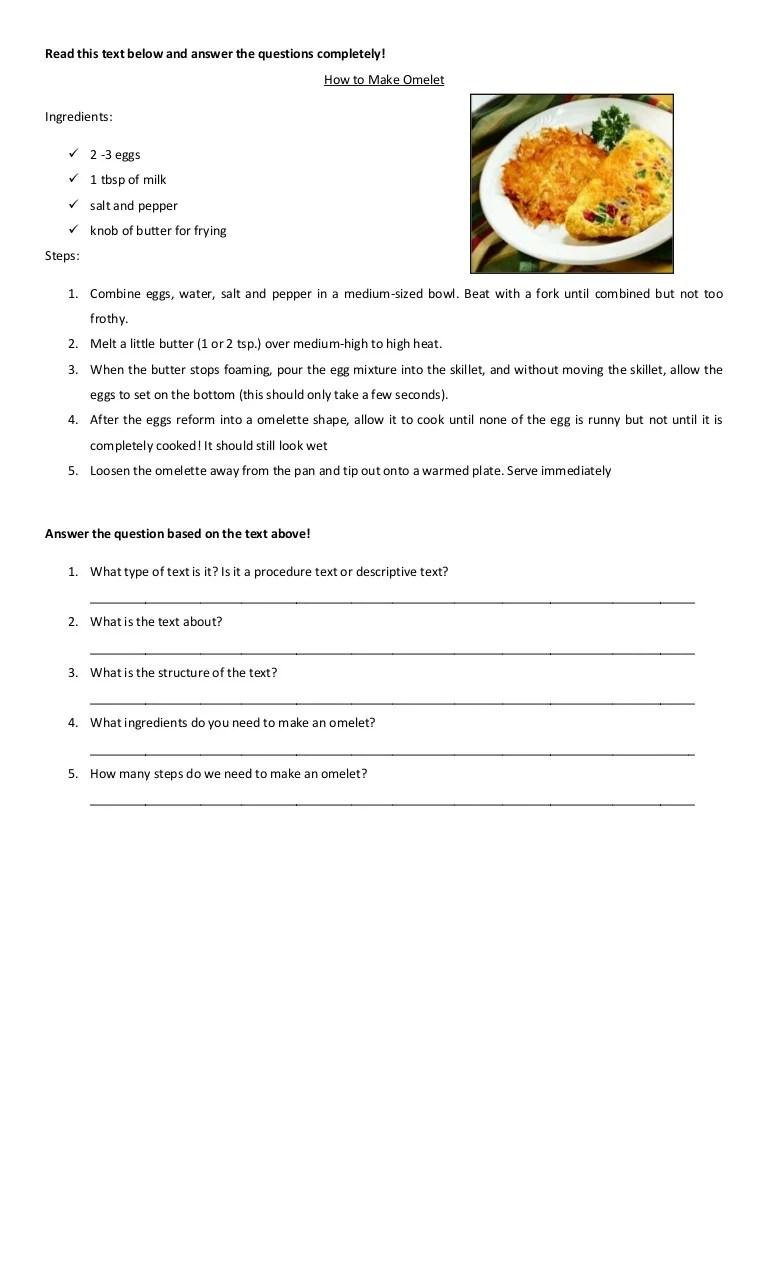 Contoh Procedure Text Makanan : contoh, procedure, makanan, Bahasa, Inggris, Procedure