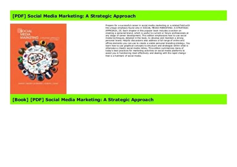 [PDF] Social Media Marketing: A Strategic Approach
