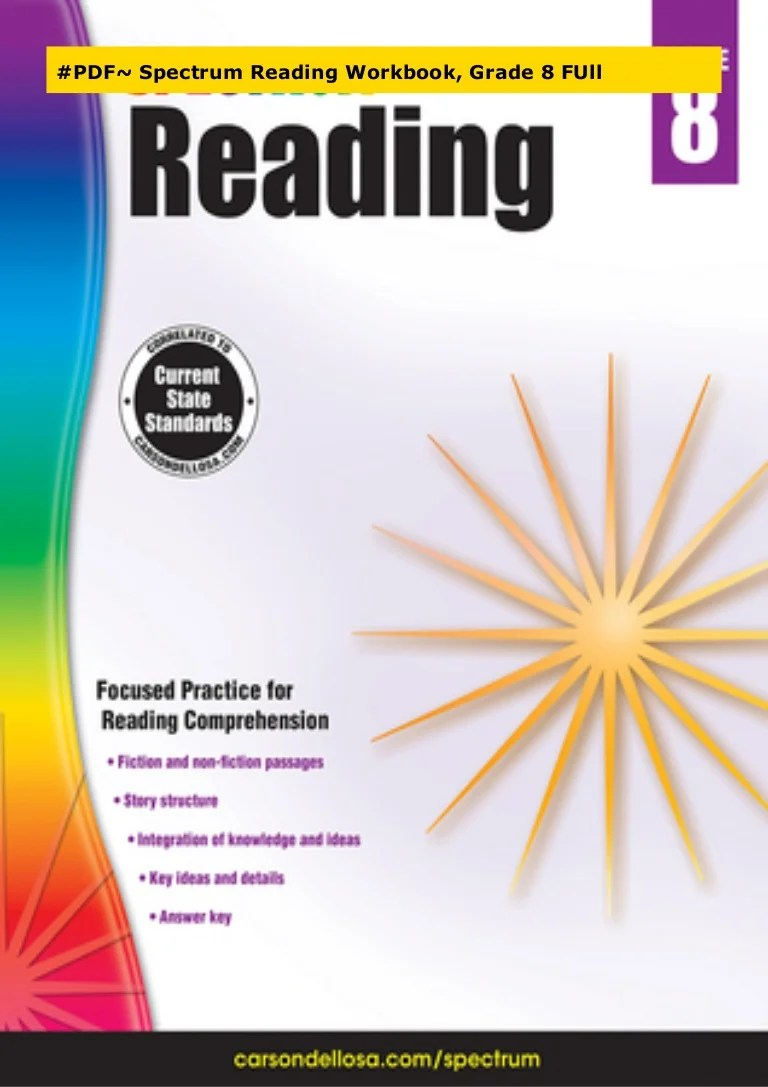 PDF~ Spectrum Reading Workbook [ 1087 x 768 Pixel ]