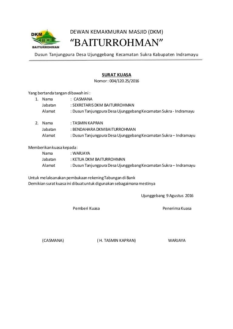 Contoh Surat Pernyataan Buat Rekening Bank Contoh Surat Cuitan