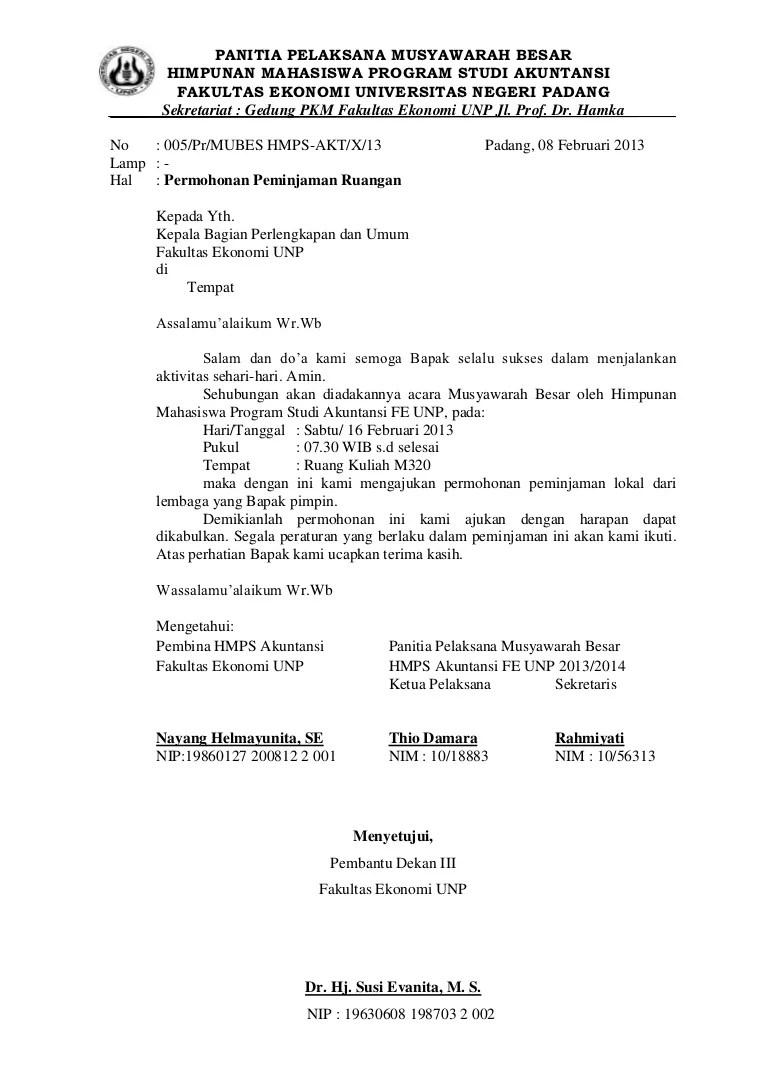 Surat Peminjaman Ruangan : surat, peminjaman, ruangan, Surat, Peminjaman, Tempat, Mubes
