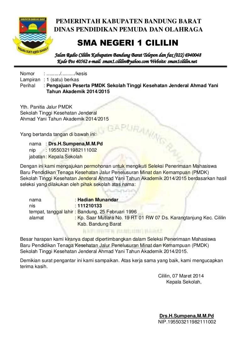 Surat Permohonan Rekomendasi Ke Dinas Pendidikan : surat, permohonan, rekomendasi, dinas, pendidikan, Surat, Pengajuan, (rekomendasi)