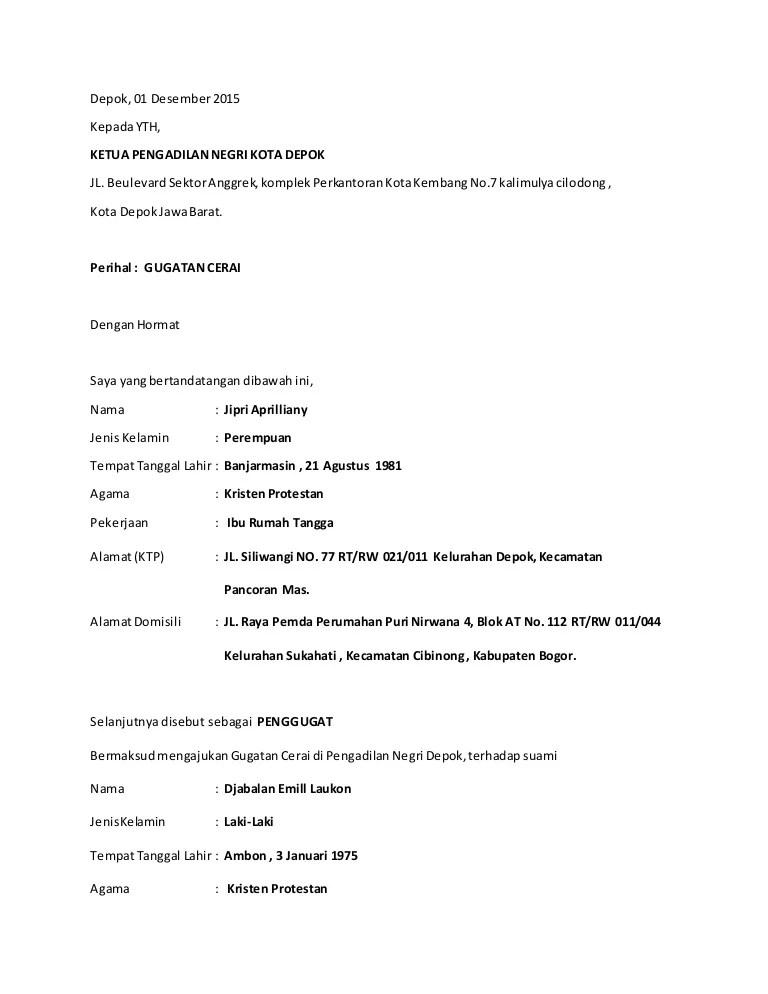 Contoh Surat Permohonan Cerai Istri Surat 26 Cuitan Dokter