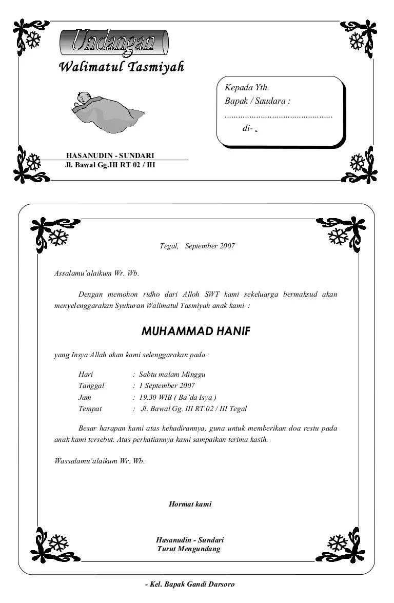 Contoh Undangan Tasyakuran Bayi : contoh, undangan, tasyakuran, Syukuran, Aqiqah, Wisnu