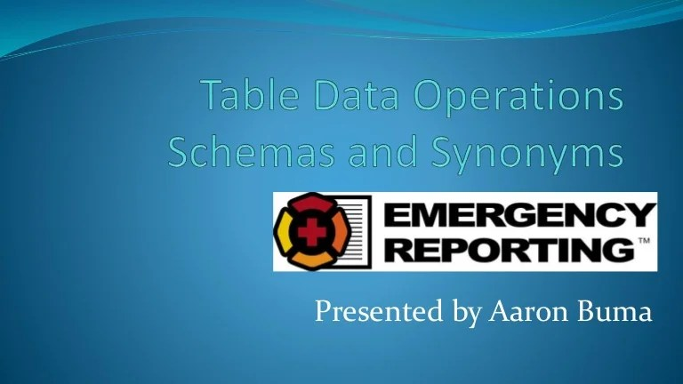 SQL Table Delete and Truncate Schemas and Synonyms
