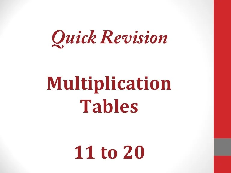 also tables to rh slideshare
