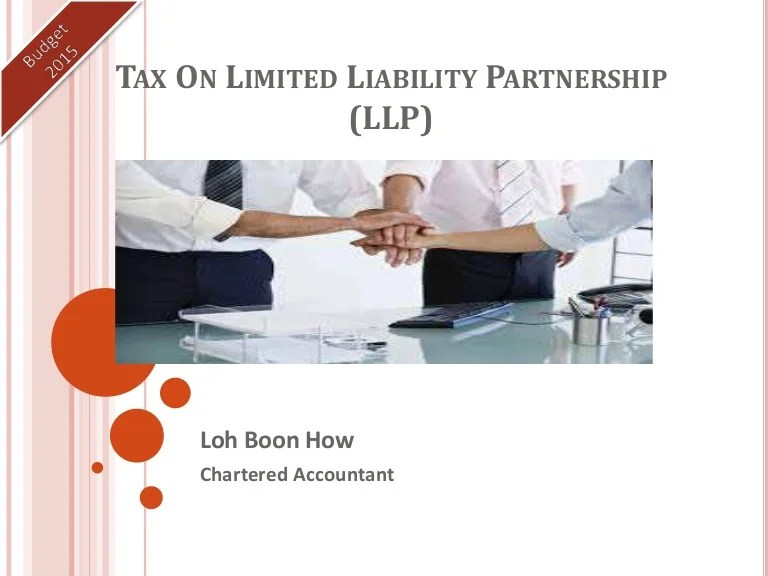Tax on limited liability partnership