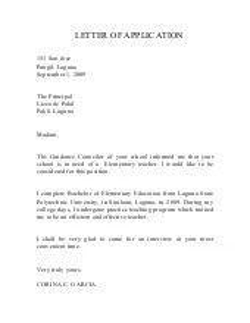 Application Letter For Computer Technician Fresh Graduate