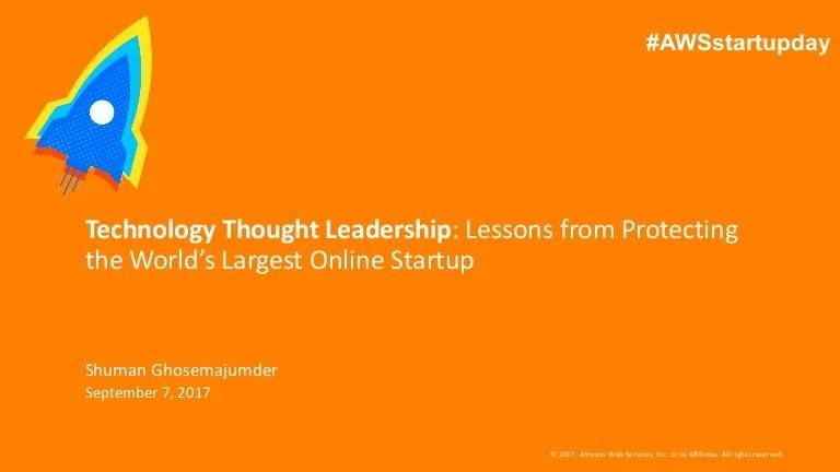 Technology Thought Leadership Shuman Ghosemajumder
